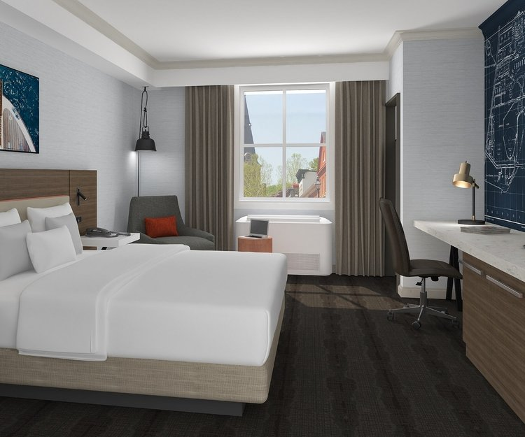 Creative Upfit Project Brings New Hilton Garden Inn to Maryland's Capital City